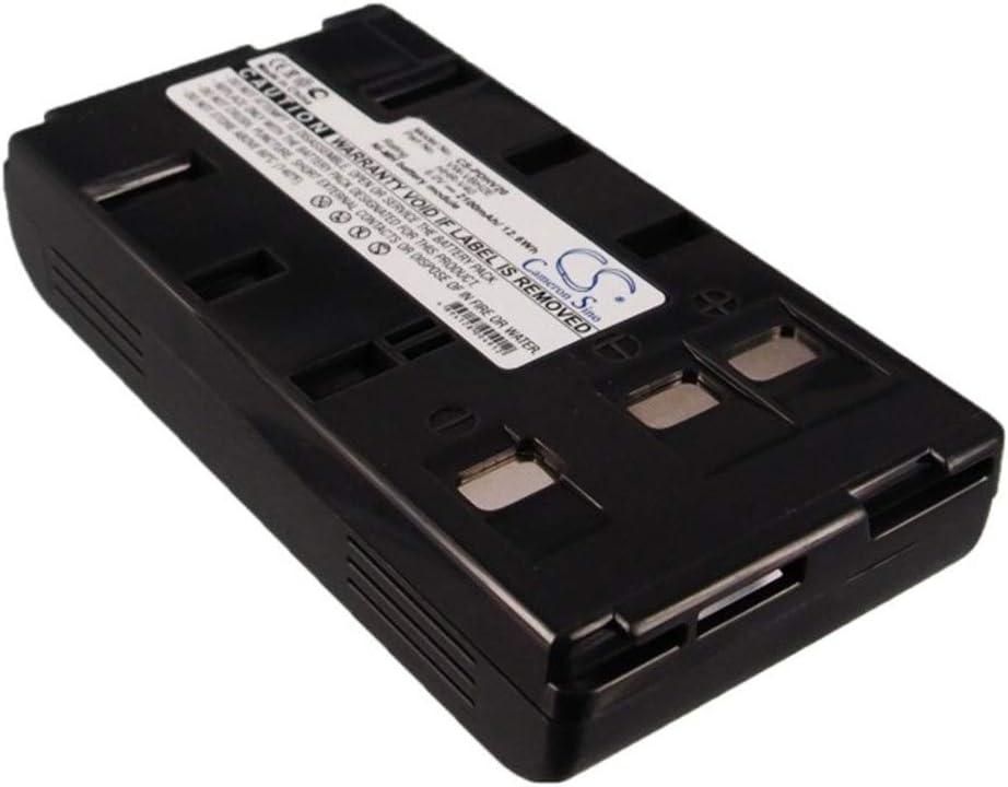Aiyawear-C Battery Camera 2100mAh//12.60Wh 6.0V Camera Battery for JVC BN-V20 BN-V20U BN-V20US GR-1U GR-323U GR-AS-X760U Photo Battery Color : Dark Grey, Size : 89.09 x 46.37 x 19.80mm