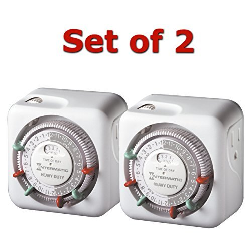 Intermatic TN311 15 Amp Heavy Duty Grounded Timer 2-Pack by SmileMore