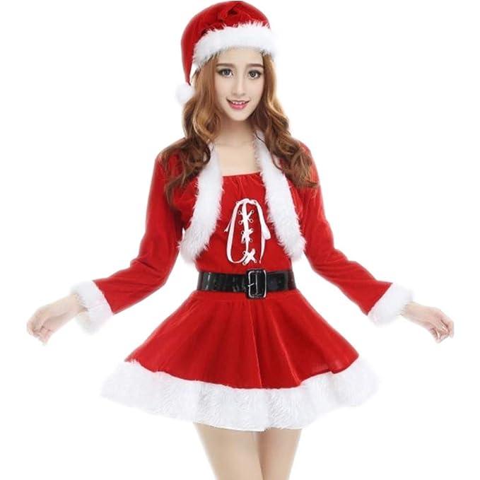 Amazon.com: Womens Mrs. Claus Costume Santa Claus Suit ...