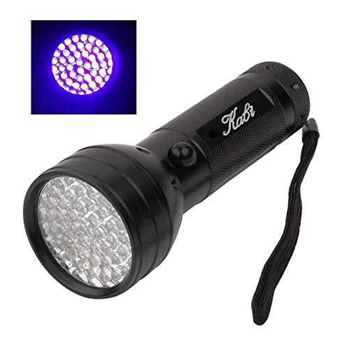 Kabi 51 LED Black Light Ultraviolet Flashlight,Finds Pet Urine Stains Dog and Cat,Scorpion Hunting, Bed Bugs, Mold & Leak Detection Batteries Not Included
