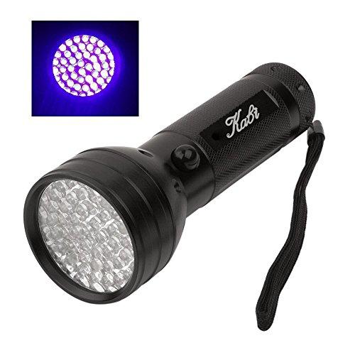 UV Flashlights Black Light Kabi Pets Urine and Stains Detector of 51 Ultra Violet LEDs Flashlight for Bed Bug Detector