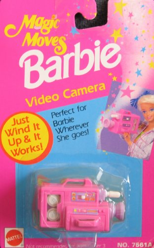 Barbie Magic Moves VIDEO CAMERA - Wind It & It Works! (1992 Arcotoys, Mattel) (Hair Dryer Wind Up compare prices)