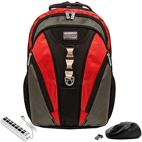 Anti-Theft Laptop Backpack 15.6inch with USB Hub and Mouse for Dell Inspiron, Latitude, ChromeBook, Vostro, XPS, Precision, Alienware, m15, G3 G5 G7 Gaming 14 to 15.6inch