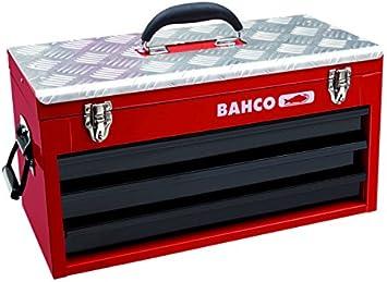 Bahco 1483KHD3RB - Caja de herramientas metálica con 3 cajones y bandeja superior: Amazon.es: Bricolaje y herramientas