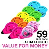 Fullmark Value Pack, Adhesive Roller Model C Assorted Colors,10-pc + 2 FREE Extra Adhesive Roller worth 6.99 each