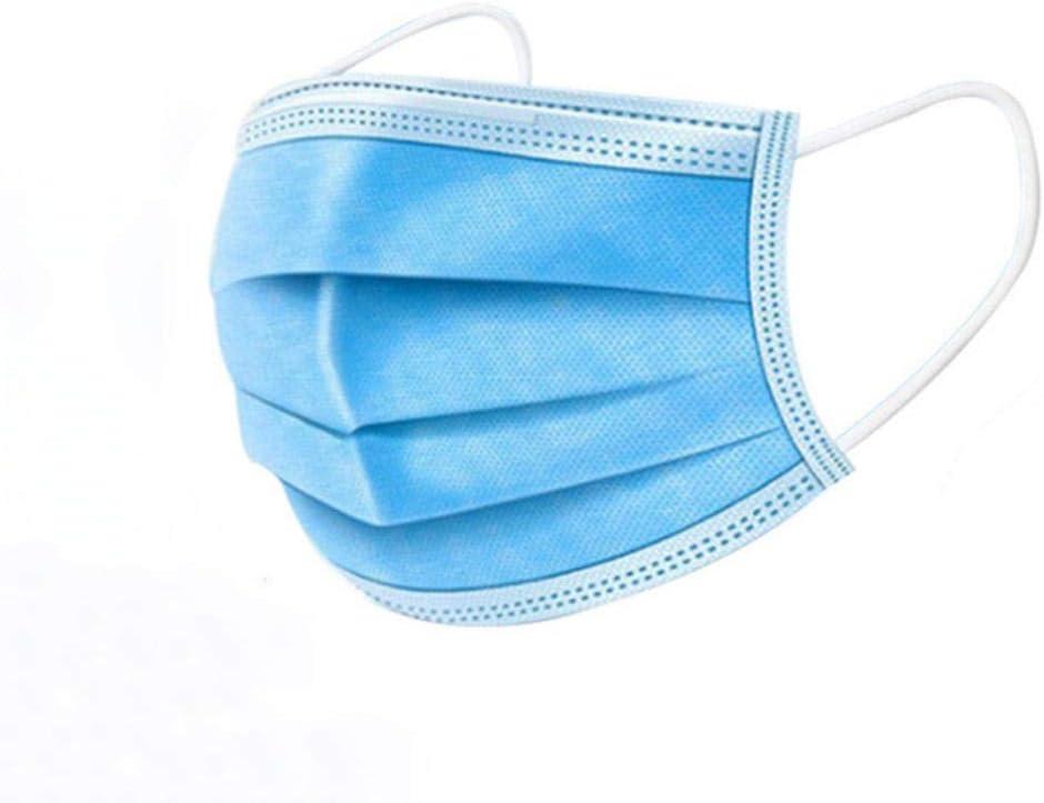 sufengshop 200pcs antipolvo antipolvo desechable Earloop cara boca facial protector facial 3 capas