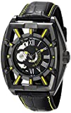 Stuhrling Original Men's 279.335565 Xtreme Millennia Expo Ion-Plated Stainless Steel Watch with Black Leather Band