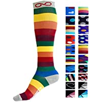 A-Swift Compression Socks (1 pair) for Men & Women by INFINITY - BEST for Running, Nurses, Shin Splints, Flight Travel, Skiing & Maternity Pregnancy - Boost Athletic Stamina & Recovery