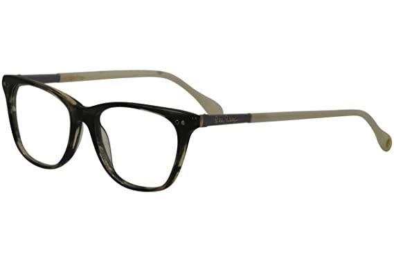 7f9b5dd45f8 Image Unavailable. Image not available for. Color  Lilly Pulitzer Women s  Eyeglasses Ellis BK Black Havana Pearl Optical Frame 52mm