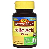 Cheap Nature Made Folic Acid 400 mcg, 250 Tablet (pack of 2)