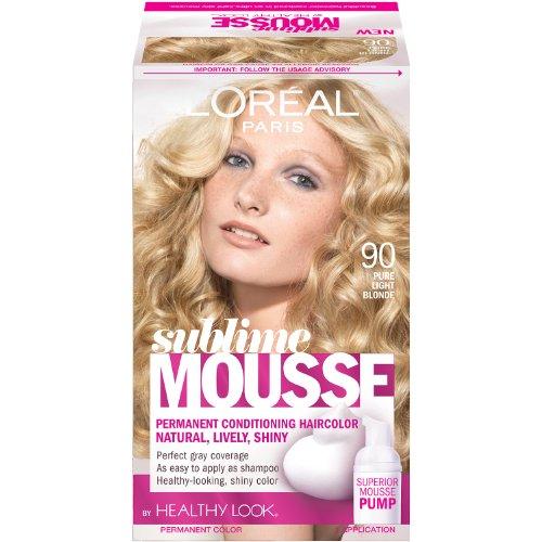 Price comparison product image L'Oreal Paris Sublime Mousse by Healthy Look Hair Color, 90 Pure Light Blonde