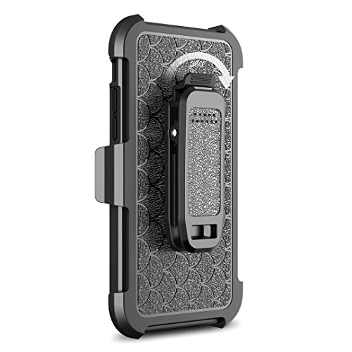 Lantier Heavy Duty Shockproof Hybrid Defender Full-body Armor Rugged Holster Protective Carrying Case Cover with Swivel Belt Clip and Kickstand für Apple iPhone 6 /6S/7/7S/8 (4.7 inch)
