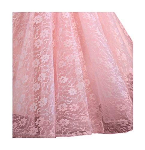 Mujeres vestido A Vestido Perl Festivo Perl Encaje Aplique noche bola bordado Tulle vestido Banda de Bordado Boda honor de vestido Scothen línea Sash redondo Tulle de de cóctel Pink Bordado vestido cuello dn5FTWTtaq