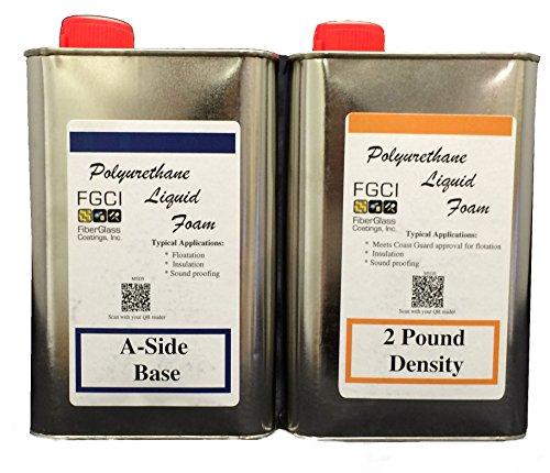 Liquid Urethane Foam Kit, 2 Lb Density, Includes 1 Quart Part A & 1 Quart Part B