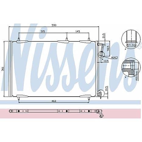 Nissens 94855 Auto, Motor: Onderdelen, Accessoires Condensators Kondensator Klimaanlage