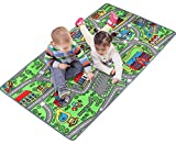 "Click N' Play Large Non-Slip City Life Kids Playmat Rug, Fun, Educational, for Play area, Playroom, Bedroom-53"" x 39"""