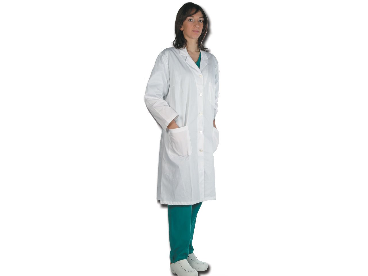 GiMa/ 1 Frauen Doctor Professional Coat /Wei/ß Lab wei/ß Baumwolle//Polyester XS