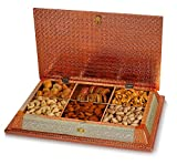 Fruitri Handmade Dry Fruit Gift Boxes with Dry Fruits - 6 Part, Mix Dry Fruits Pack,15x10 Inches