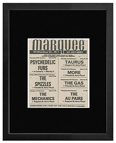 Psychedelic Furs The Spizzles The Au Pairs - The Marquee Jan-Feb 1981 Gigs Framed Mini Poster - 20x18cm (Sticks Spizzle)