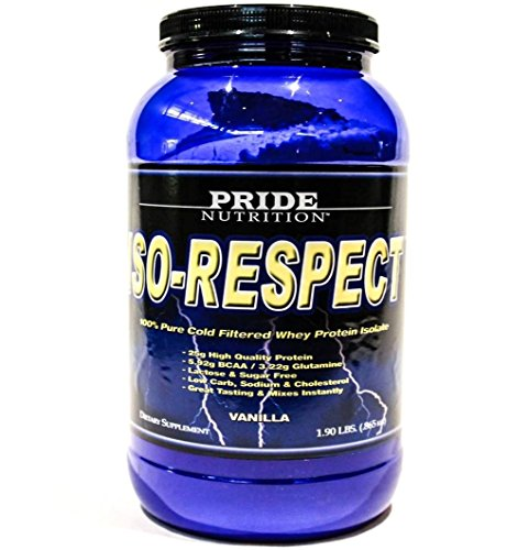 #1 Whey Protein Isolate Shake- Iso-Respect Protein Vanilla 30 Servings- Best Whey Protein Powder for Women & Men - No Lactose - Mixes With a Spoon- High Quality Protein Shake