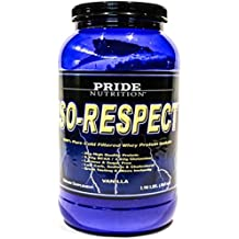 #1 Whey Protein Isolate Shake- Iso-Respect Protein Vanilla 30 Servings– Best Whey Protein Powder for Women & Men – No Lactose - Mixes With a Spoon- High Quality Protein Shake