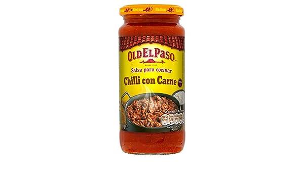 Old el Paso Salsa para Cocinar Chili con Carne - 340 gr: Amazon.es: Alimentación y bebidas