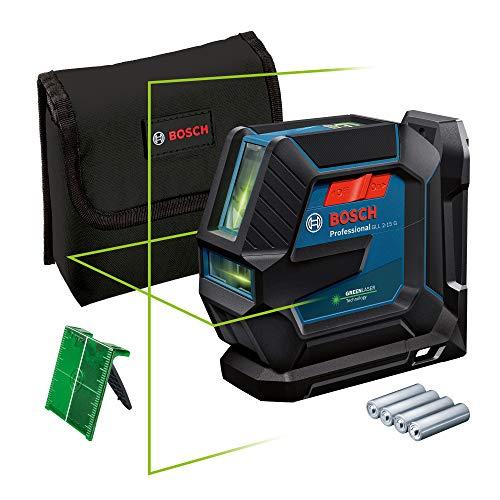 Bosch Professional Nivel Láser de interior GLL 2-15 G (láser verde, soporte LB 10, alcance visible: hasta 15 m, 4x pilas AA, en caja)
