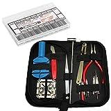 16Pcs Watch Jewelry Repair Tool Kit + 18 Sizes 216pcs Professional Spring Bar Tool Set Watch Band Link Pin Tool Set