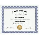 Tequila Lover Degree: Custom Gag Diploma Doctorate Certificate (Funny Customized Joke Gift - Novelty Item)