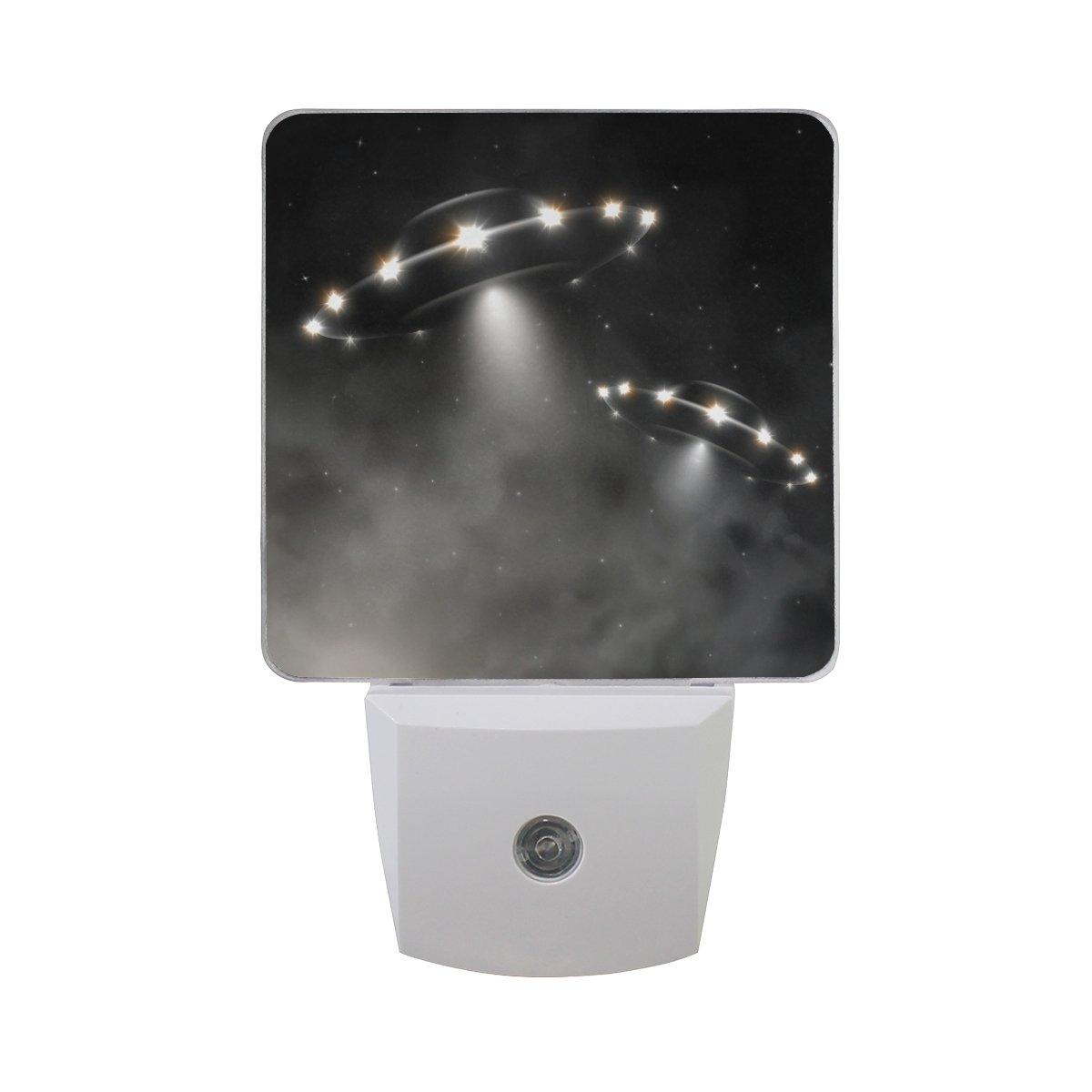 XinmingダイナミックUFO Elephant LEDセンサー夜間ライト超明るい電源Dusk to Dawnセンサーベッドルームキッチンバスルームトイレ廊下階段エネルギー効率的なコンパクト(2パック) XinMing-003 B07CVCQ951  Dynamic Ufo