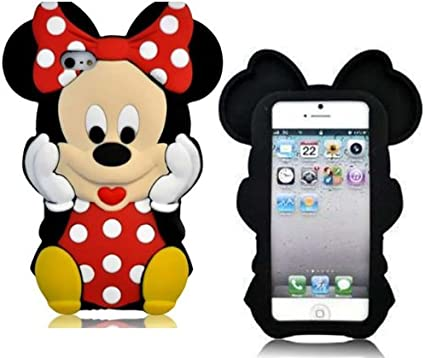 Nuovo Custodia Silicone Cover iPhone 4 4S Disney Minnie Mouse 3D ...