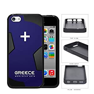 Greece World Cup 2014 Soccer Ball Rubber Silicone TPU Cell Phone Case Cover iPhone 5c