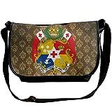 Lov6eoorheeb Unisex Coat Of Arms Of Tonga Wide Diagonal Shoulder Bag Adjustable Shoulder Tote Bag Single Shoulder Backpack For Work,School,Daily