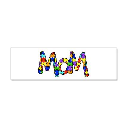 Cafepress mom autism awareness car magnet 10 x 3 car magnet 10 x 3