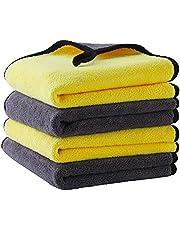 Microvezeldoeken, 800 g/m², polijstdoek, droogdoek, microvezeldoek, auto-onderhoud, microvezelhanddoeken, polijstdoeken, droogdoek voor het reinigen van auto, motorfiets, huishoudelijke schoonmaakdoeken