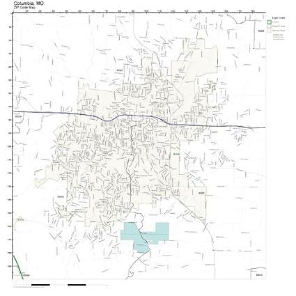Amazon.com: ZIP Code Wall Map of Columbia, MO ZIP Code Map Laminated on