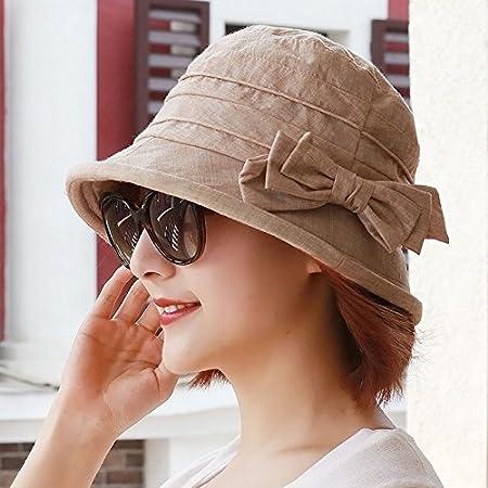 MS Montera sombrero Cuenca parasol plegable sombrero pescador color cap hat hat anciana madre tamaño regalo del Día de la madre (55-58cm) metros de profundidad.