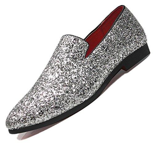 grandi di scarpe Argento uomo Mocassini si grandi pelle 48 da adattano casual dimensioni Bebete5858 taglia in particolarmente alle gI4qgnU