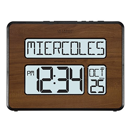 La Technology Atomic Digital Calendar Clock