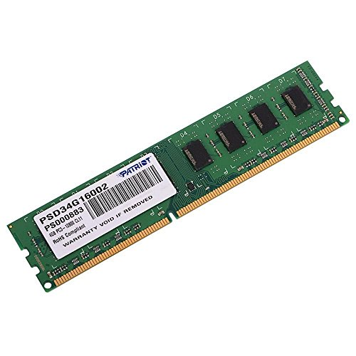 Patriot Memory Signature Line DDR3 4GB (1x4GB) UDIMM Frequency PC3-12800 (1600MHz) 1.5 Volt - PSD34G16002