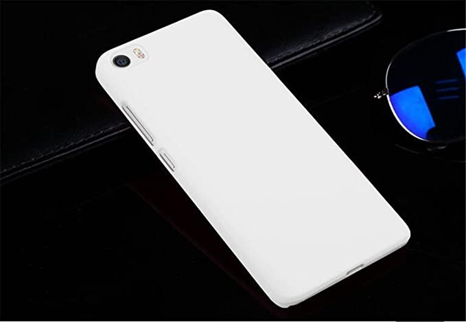 new products bfb18 625d6 Tip-top Xiaomi Mi5 Case,Matte Hard Case Cover Protective Skin Compatible  with Xiaomi Mi 5 Mi5 (White)