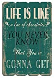 Life Is Like A Box of Chocolates (Forest Gump Quote) - Wooden Wall Decor - Wood Sign