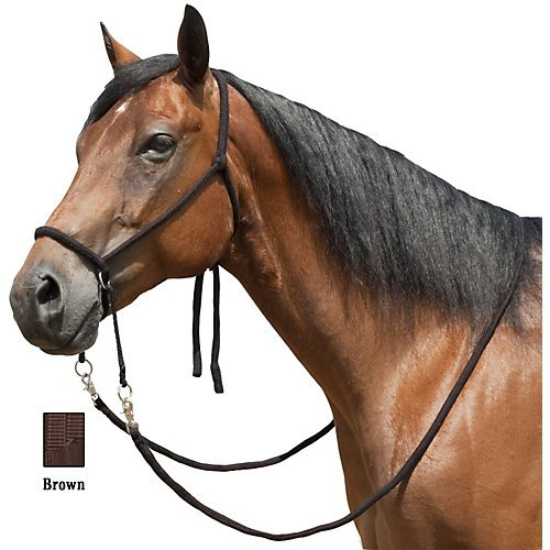 Mustang Nylon Bitless Bridle w/Reins - Side Pull