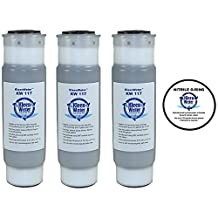 WHKF-GAC & WHCF-GAC Whirlpool Compatible Filters, Granular Activated Carbon Water Filter Cartridges, 2.5 X 9.75 Inch (3) with O-ring for WHKF-DWHV, WHKF-DWH & WHKF-DUF (1)