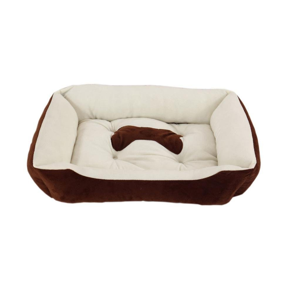 B S6045cmWUTOLUO Pet Bolster Dog Bed Comfort Cloth kennel Cat nest (color   B, Size   S60  45cm)