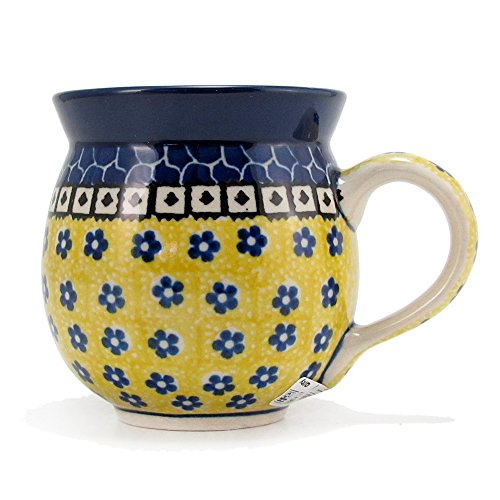 Polish Pottery 11 Ounce Handmade Bubble Mug From Boleslawiec Poland Traditional Pattern 859