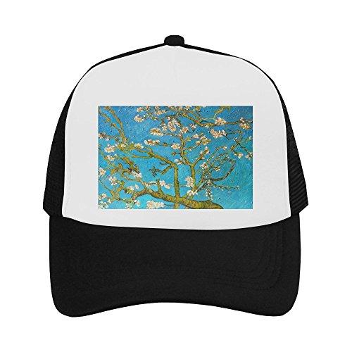 Almond Blossom by Vincent Van Gogh Classic Vintage Mesh Trucker Cap Baseball Hat Black ()