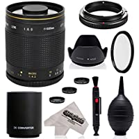 Super 500mm/1000mm f/8 Mirror Telephoto Lens for Fuji X-Pro2, X-Pro1, X-T10, X-E2S, X-T1, X-E2, X-E1, X-M1, X-A2, and X-A1 FX Mirrorless Digital Cameras