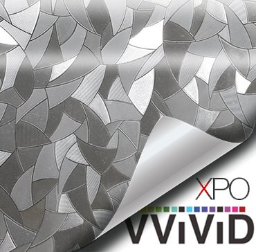 - VViViD Clear Shard Mosaic Static Cling Privacy Film Decorative Window Vinyl Decal for Bathroom, Kitchen, Home, Office Easy DIY Easy-Install Adhesive-Free (36