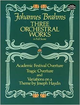 ブラームス: 3つの管弦楽作品集/ドーヴァー社/大型スコア